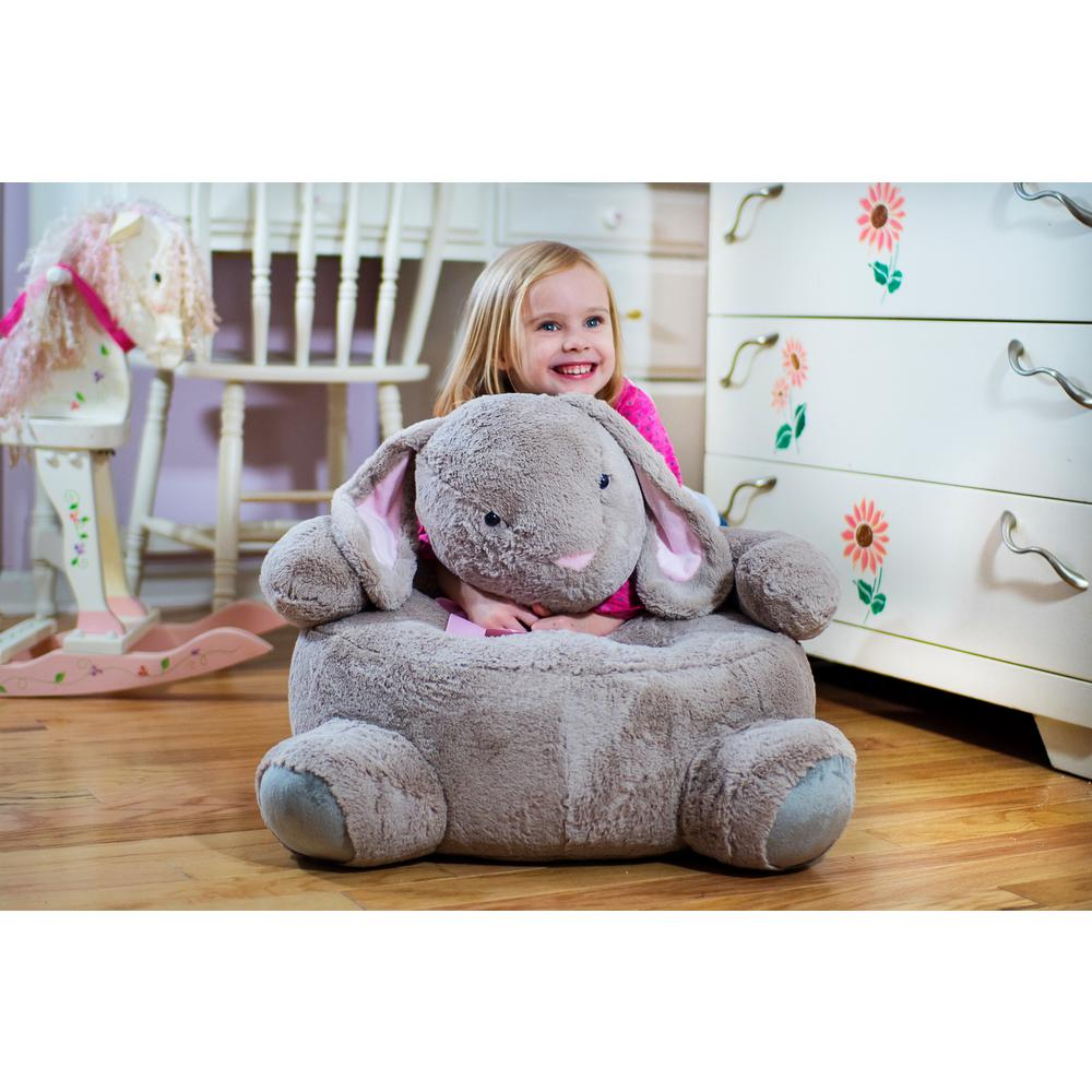 Beige Plush Kids Bunny Chair Bunnychair The Home Depot