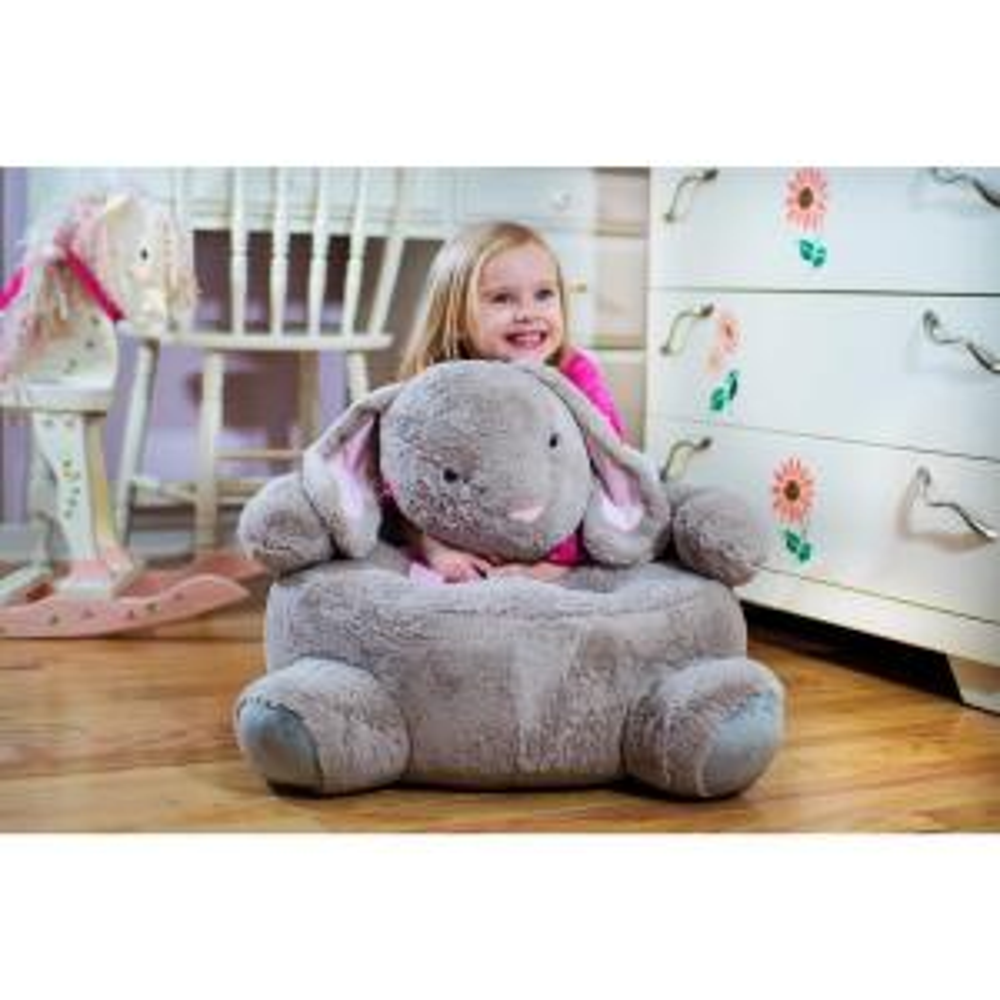 Beige Plush Kids Bunny Chair