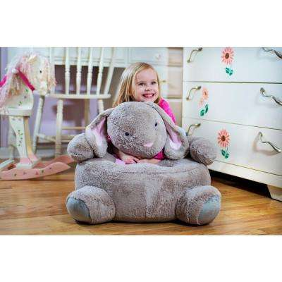 Beige Plush Kids Bunny Chair
