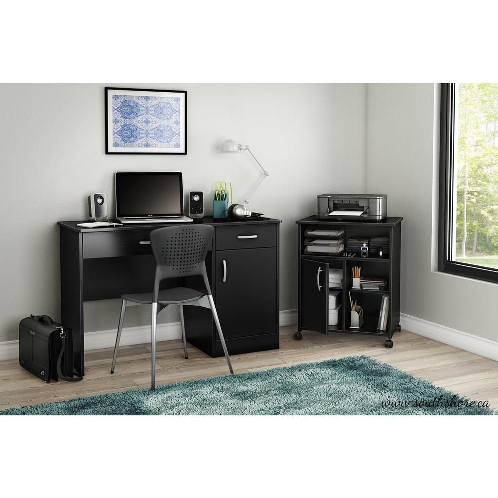 desktop small glass with white bookcase corner drawer computer hutch office storage drawers desk