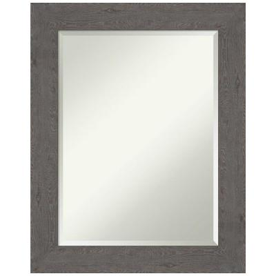 Medium Rectangle Distressed Grey Beveled Glass Modern Mirror (29.38 in. H x 23.38 in. W)