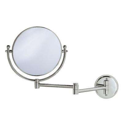 15 in. x 12 in. Framed Mirror with Swing Arm in Chrome