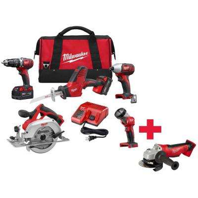 M18 18-Volt Lithium-Ion Cordless Combo Kit (5-Tool) W/ Free M18 Cut-Off/Grinder