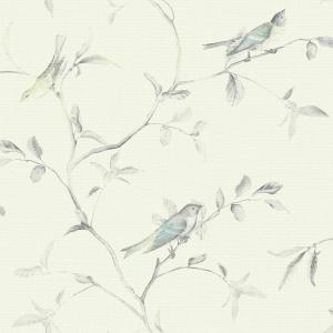 York Wallcoverings, Inc Patina Vie Birds of a Feather Wallpaper by York Wallcoverings,