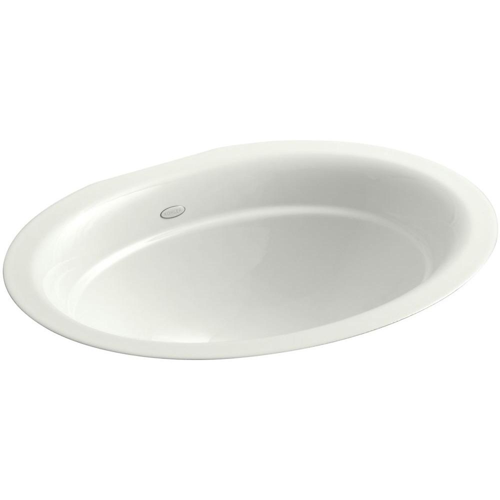 Kohler Serif Undermount Cast Iron Bathroom Sink In Dune K 2824 Ny The Home Depot