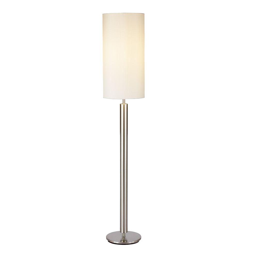 Adesso hollywood 58 in satin steel floor lamp 4174 22 the home satin steel floor lamp mozeypictures Images