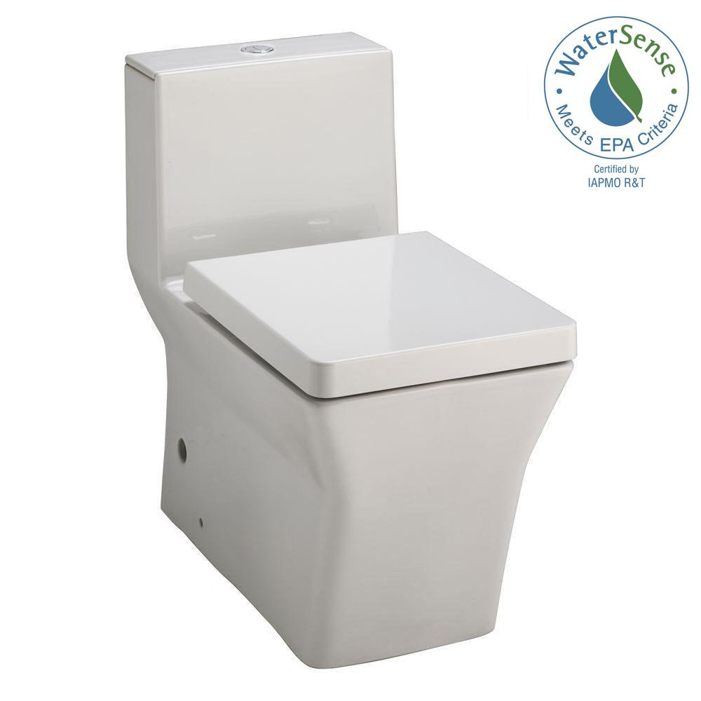 Reve 1-piece 0.8 or 1.6 GPF Dual Flush Elongated Toilet in