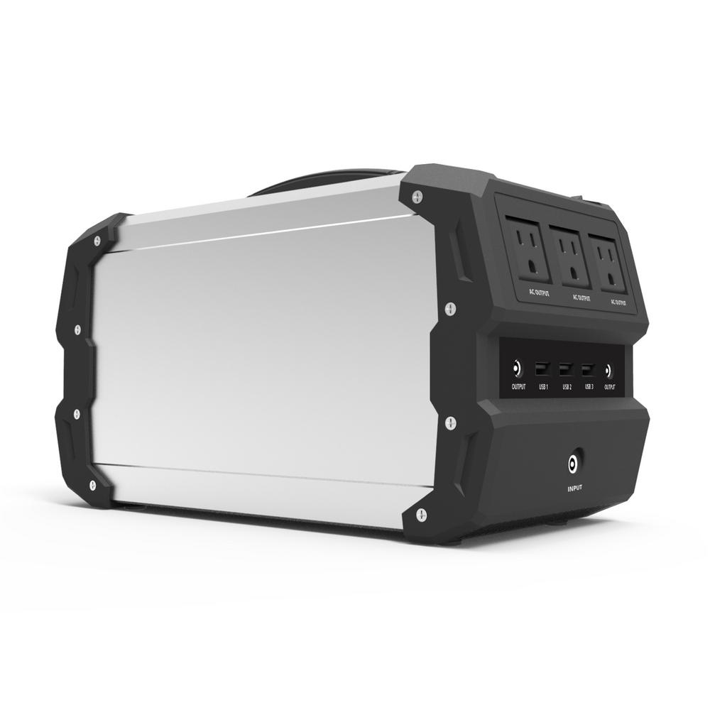 400-Watt Lithium Polymer/Solar/Car Powered Portable Generator