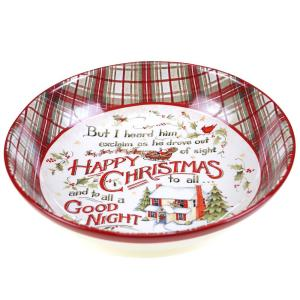 The Night Before Christmas Pasta and Salad Serving Bowl by
