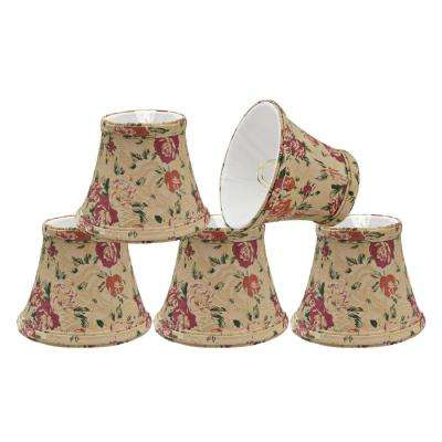 5 in. x 4 in. Floral Print Bell Lamp Shade (5-Pack)