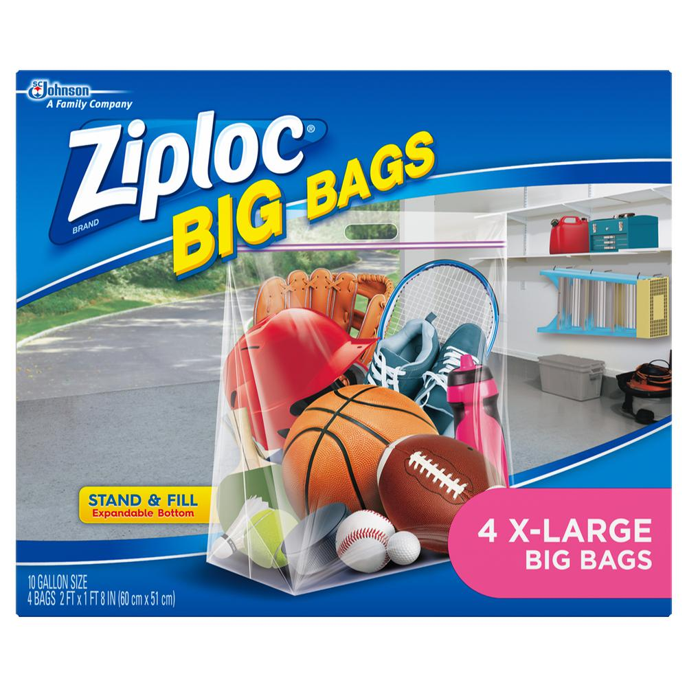 Ziploc Xl Bags In Clear 4 Pack