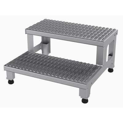 24 in. x 23 in. 2-Step Adjustable Stainless Steel Step Mate Stand