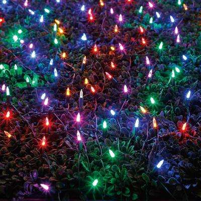 400-Light LED Multi-Color Christmas Tree - Net Lights - Christmas Lights - The Home Depot