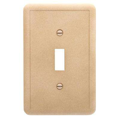 Brown 1-Gang Toggle Wall Plate (1-Pack)
