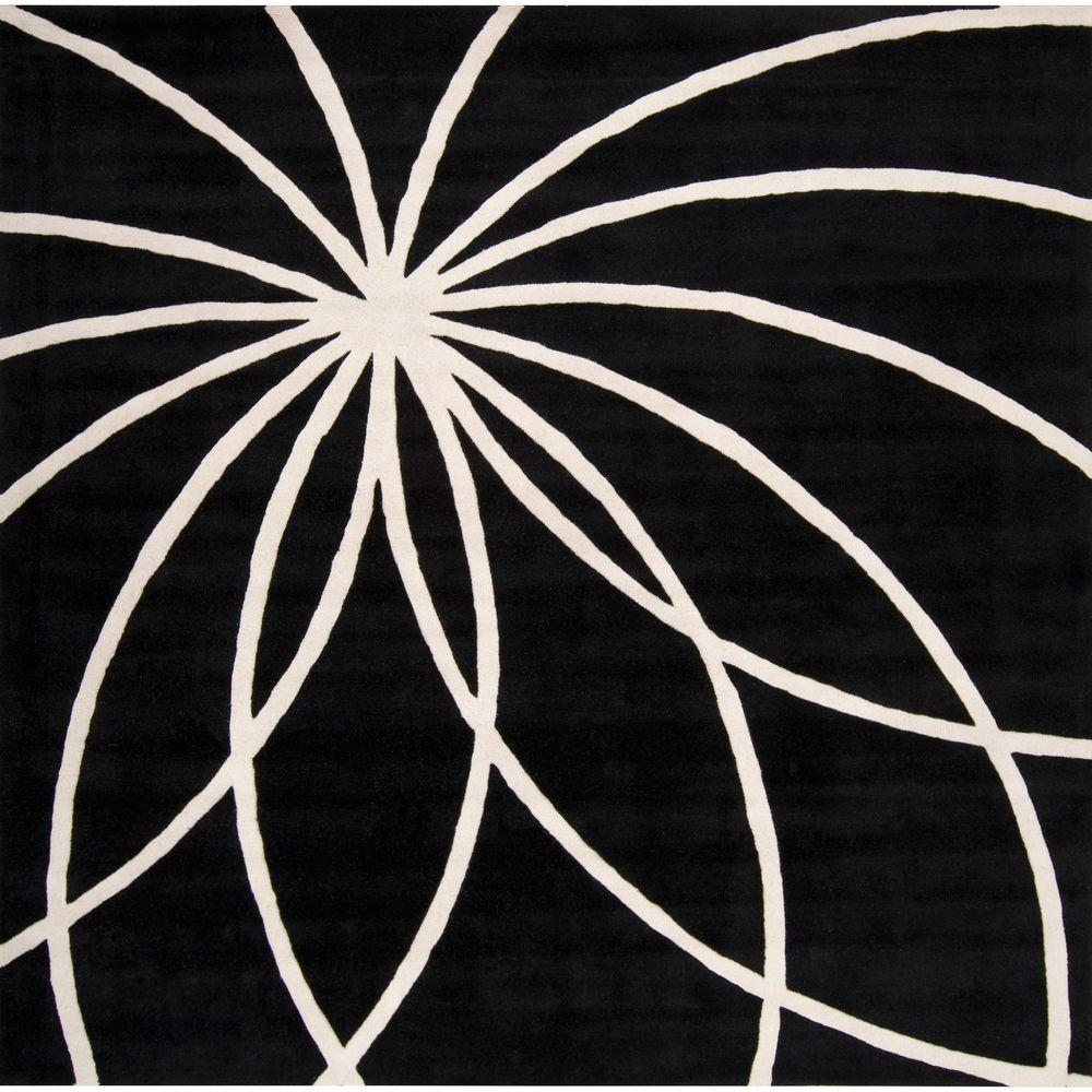 Artistic Weavers Michael Black 8 ft. Square Area Rug