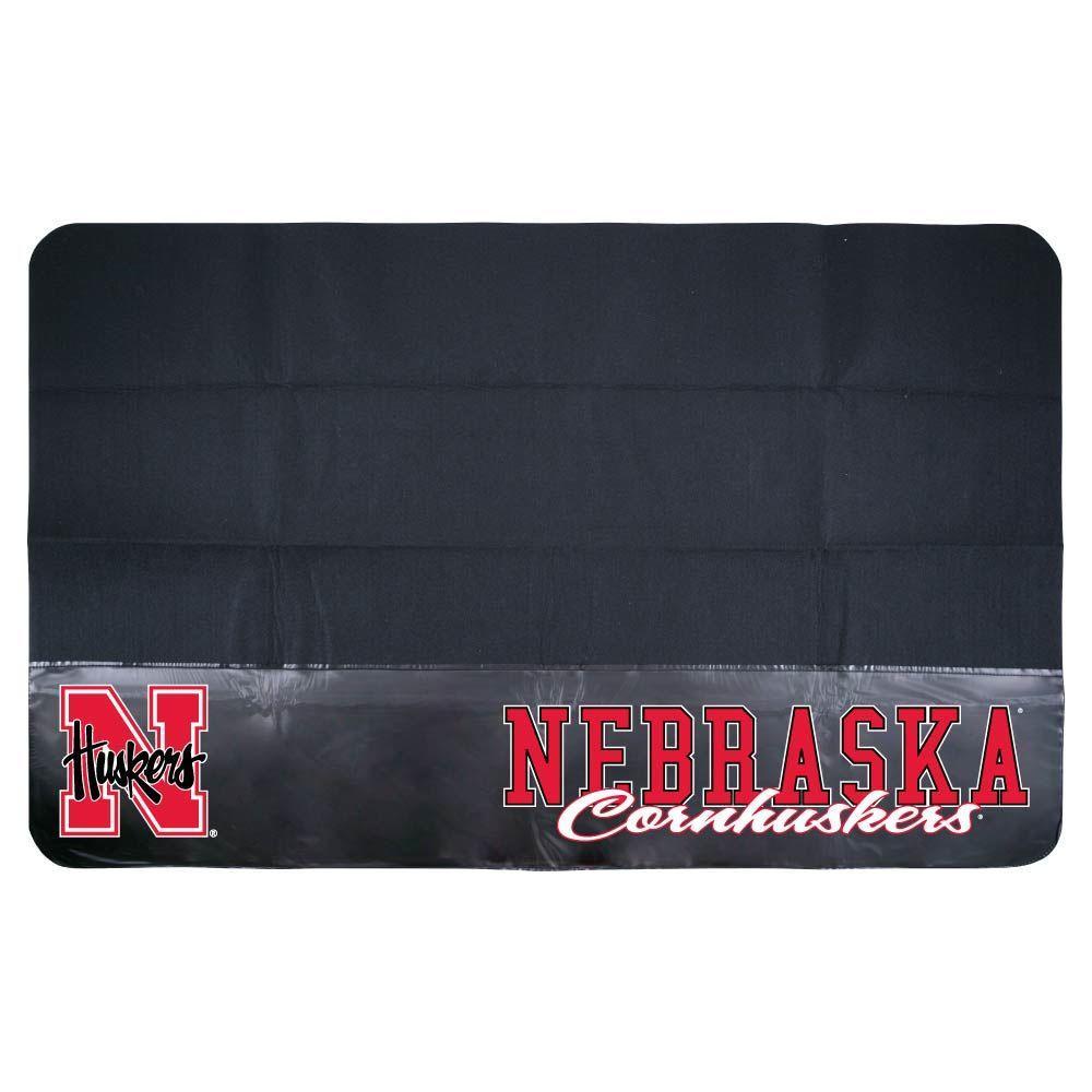 Mr. Bar-B-Q Nebraska 48 in. x 30 in. NCAA Grill Mat-DISCONTINUED