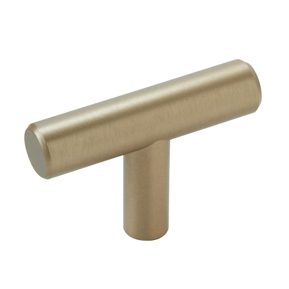 Bar Pulls 1-15/16 in. (49 mm) Golden Champagne Cabinet Knob