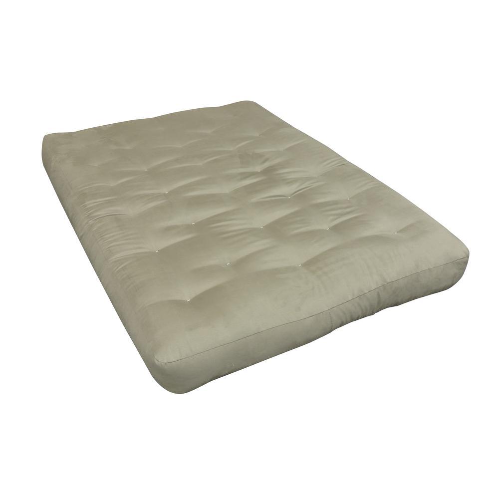 King 8 in. Foam and Cotton Tan Futon Mattress