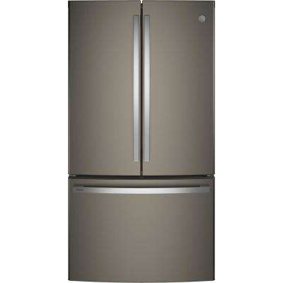 Profile 23.1 cu. ft. French Door Refrigerator in Slate, Counter Depth, Fingerprint Resistant and ENERGY STAR