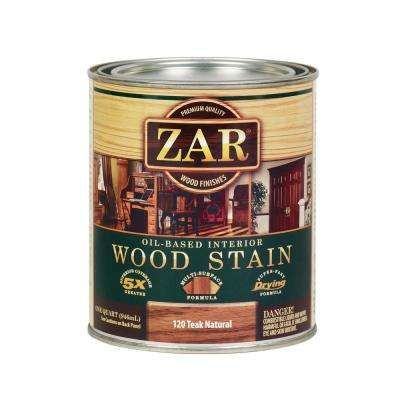 120 1 qt. Teak Natural Wood Stain (2-Pack)