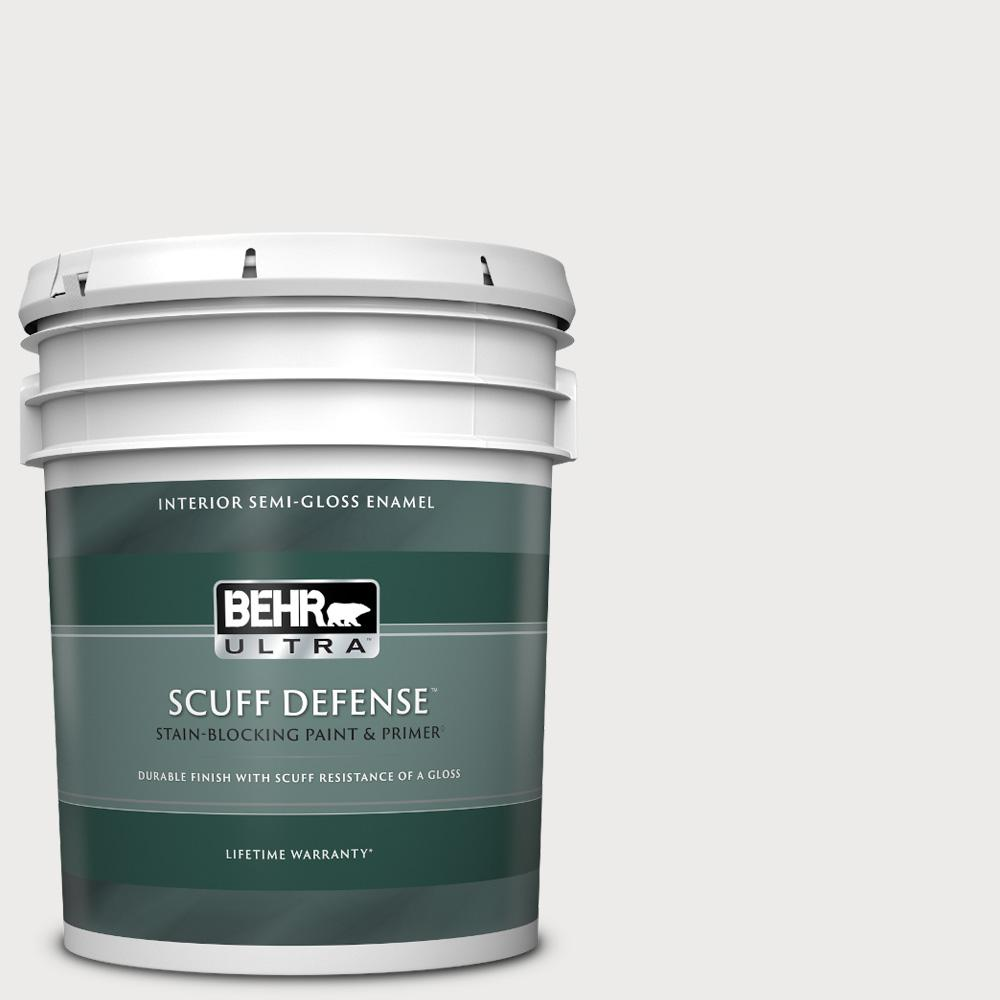 Behr Ultra 5 Gal 640e 1 Silver Chalice Extra Durable Semi Gloss Enamel Interior Paint And Primer In One 375005 The Home Depot