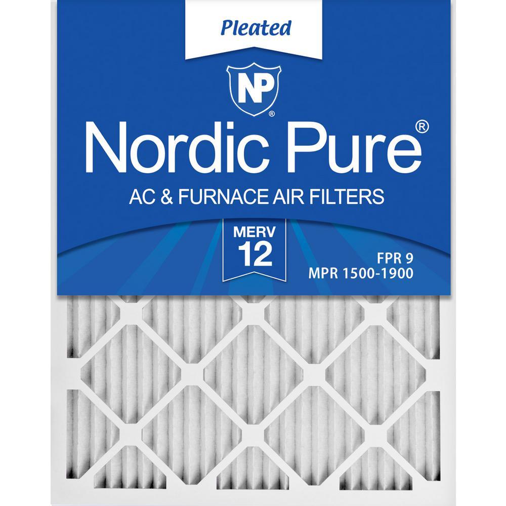16  x 25  x 1  Allergen Pleated MERV 12 - FPR 9 Air Filter (12-Pack)