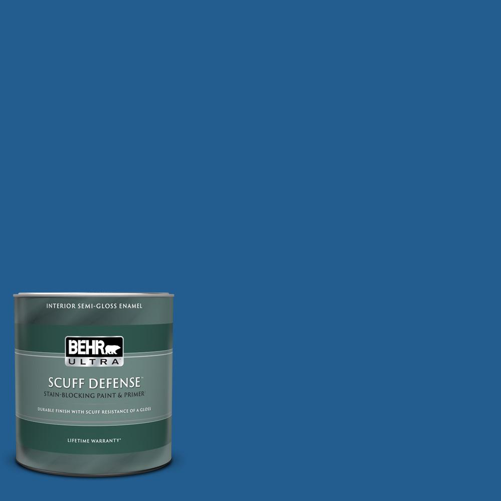 Behr Ultra 1 Qt S G 570 Sapphire Lace Extra Durable Semi Gloss Enamel Interior Paint And Primer In One 375304 The Home Depot