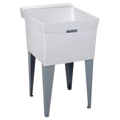 Utilatub 20 in. x 24 in. Fiberglass Floor-Mount Laundry/Utility Tub