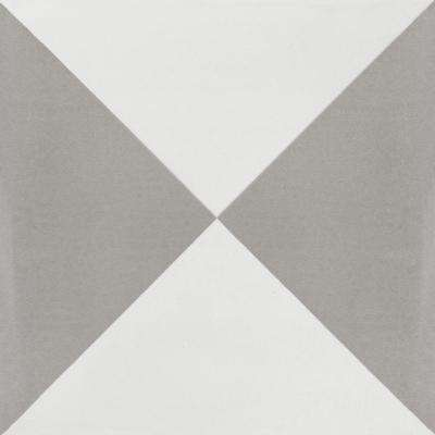 Tugboat Featherstone and White 7-7/8 in. x 7-7/8 in. Cement Handmade Floor and Wall Tile