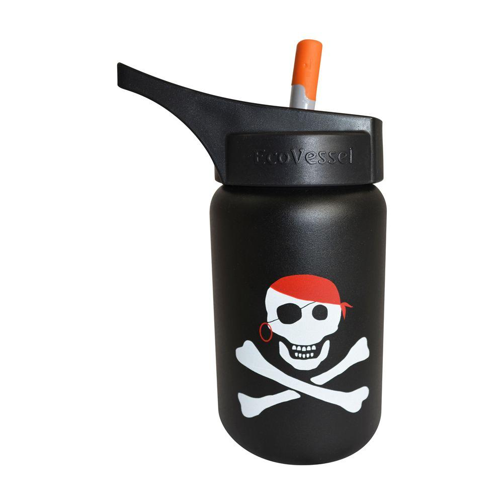 13 oz. Scout Kids Bottle with Straw Top - Black with
