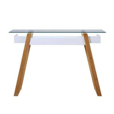 Oslo Sundance White and Bamboo Console Table