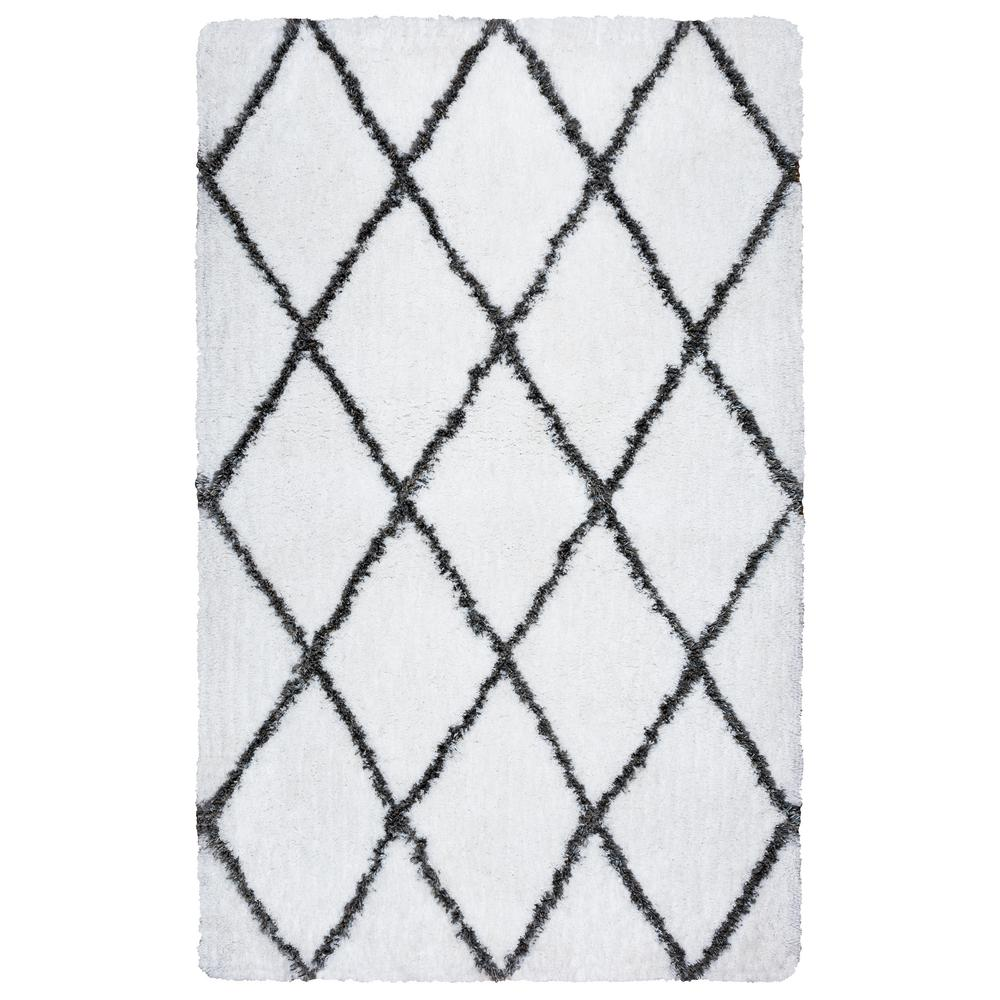 Connex Ivory Polyester Shag 7 ft. 6 in. x 9 ft. 6 in. Area Rug
