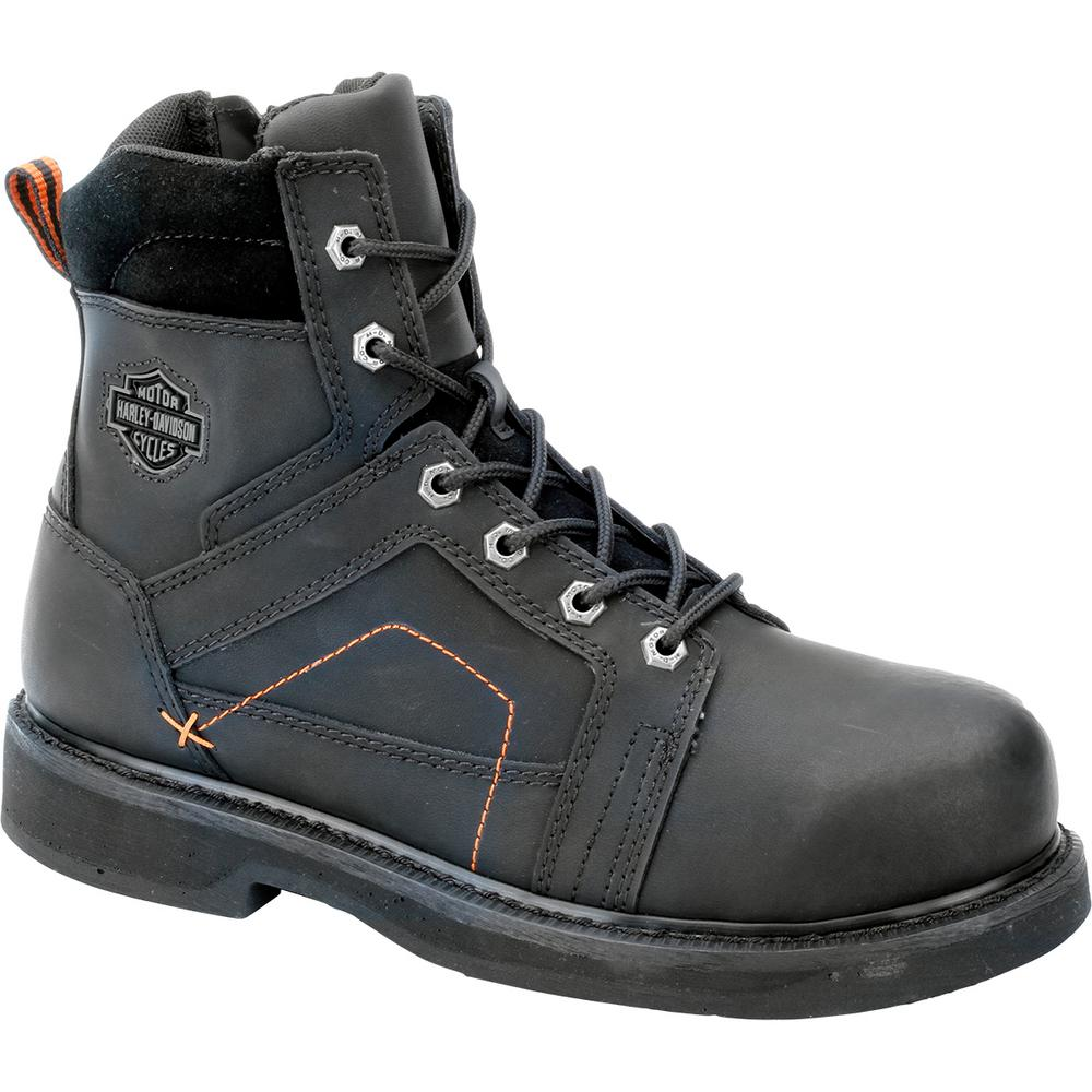 Pete Men's 8.0 M Black Steel Toe Boot