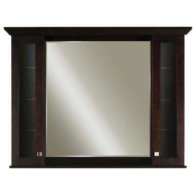 Manhattan 52 in. x 36 in. x 6 in. Surface Mount Medicine Cabinet in Espresso