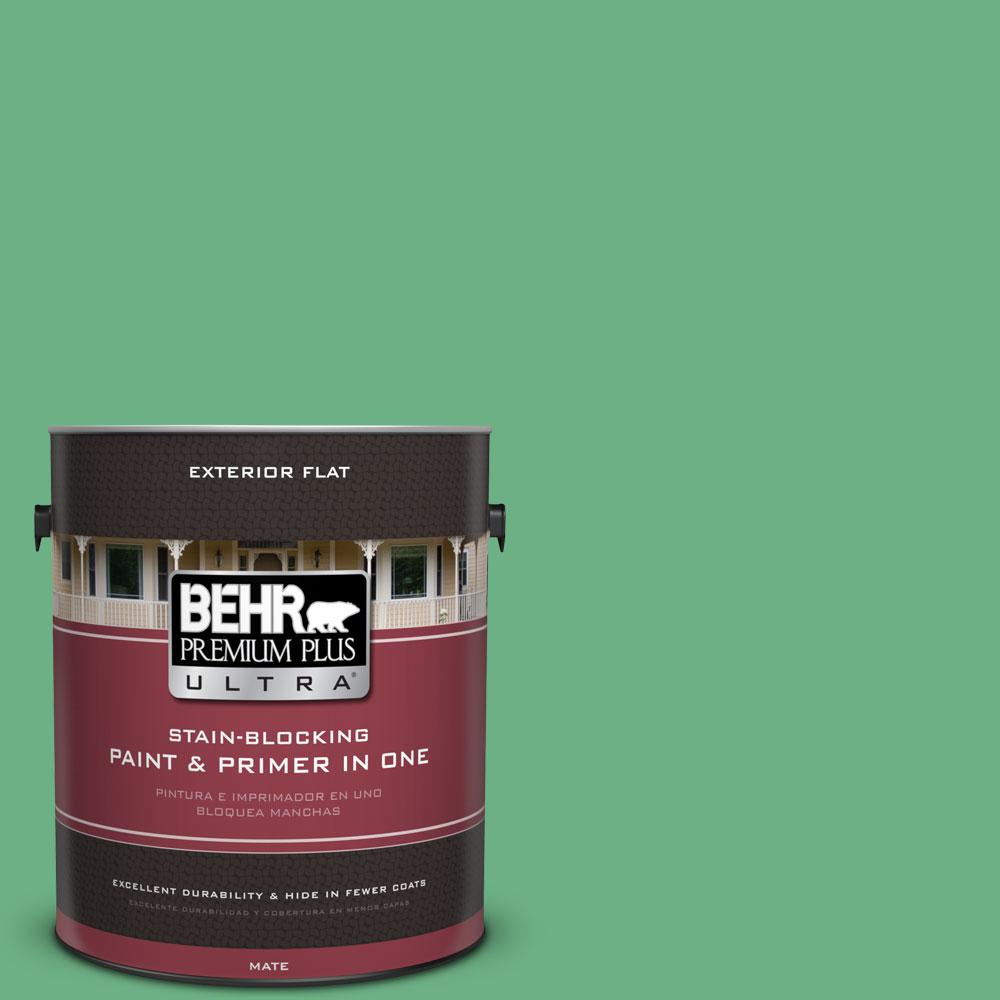 BEHR Premium Plus Ultra 1-gal. #P410-5 Lily Pads Flat Exterior Paint