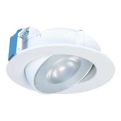 HLA 4 in. Color Selectable (2700K-5000K) Canless Recessed Narrow Beam Adjustable Gimbal Trim Integrated LED Kit