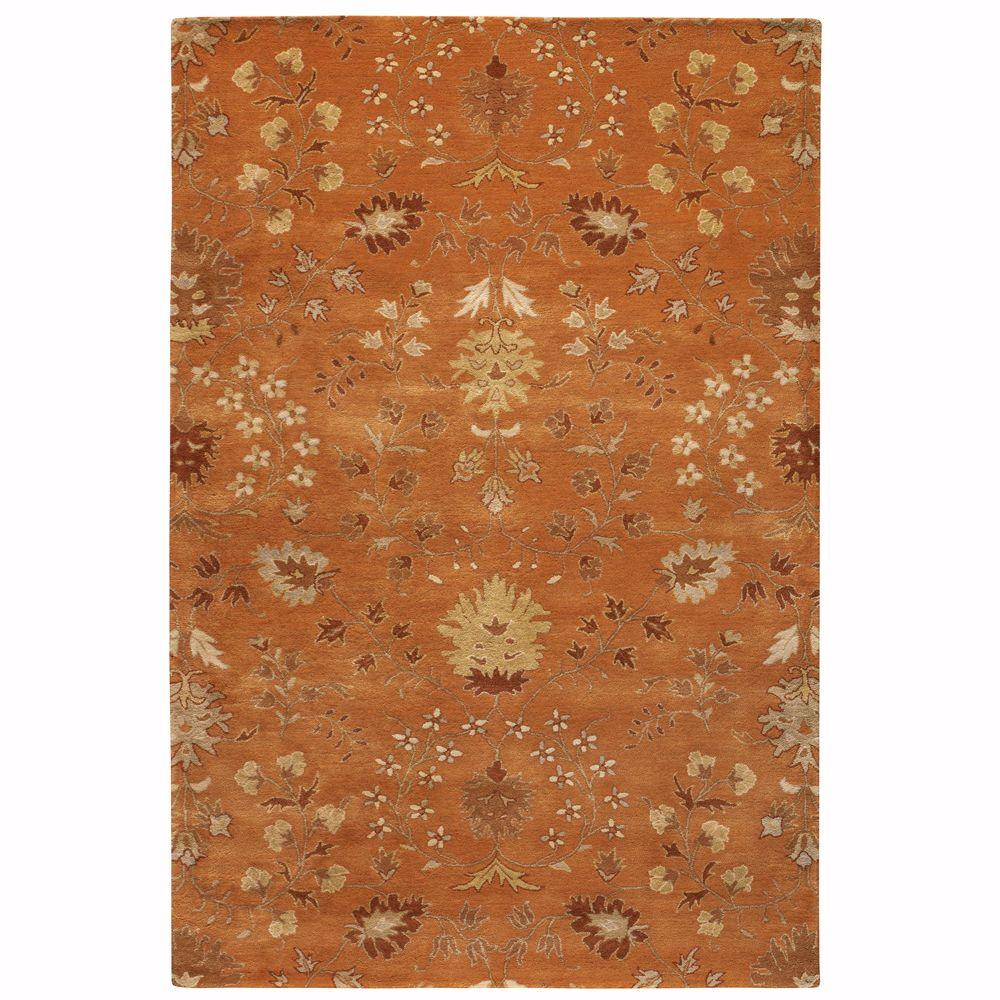 Home Decorators Collection Baroness Orange Spice 8 ft. x 11 ft. Area Rug