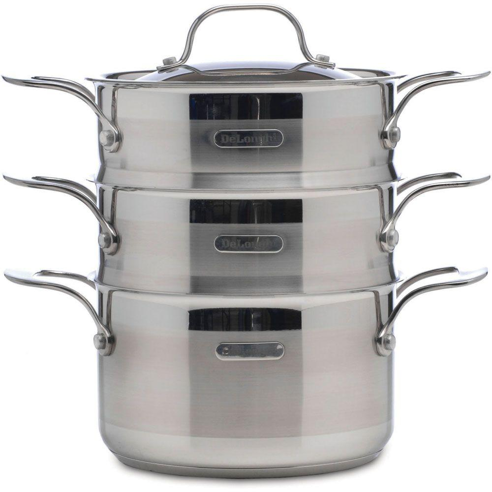 DeLonghi 3 Qt. Stainless Steel Triple Steamer-DISCONTINUED