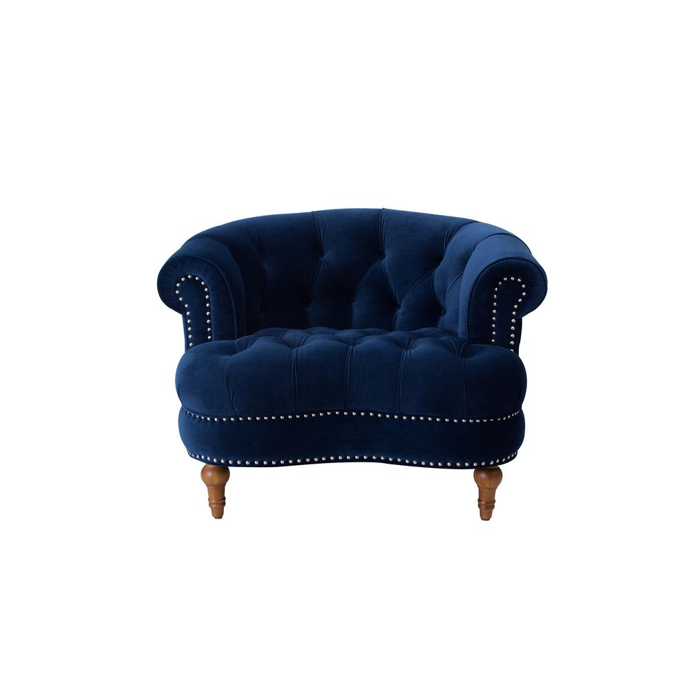 Jennifer Taylor La Rosa Navy Blue Tufted Accent Chair 2525 1 859