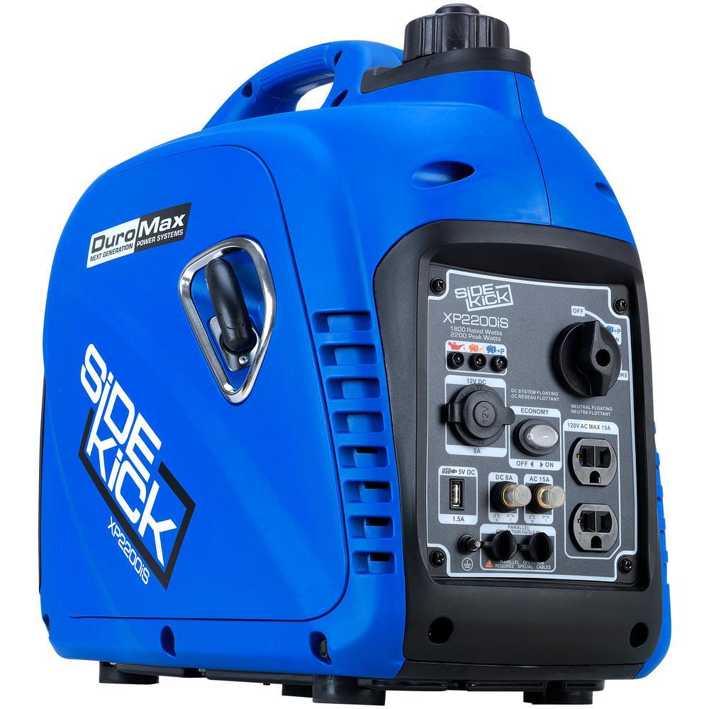 2200-Watt/1800-Watt Digital Gasoline Powered Pull Start Portable Inverter Generator
