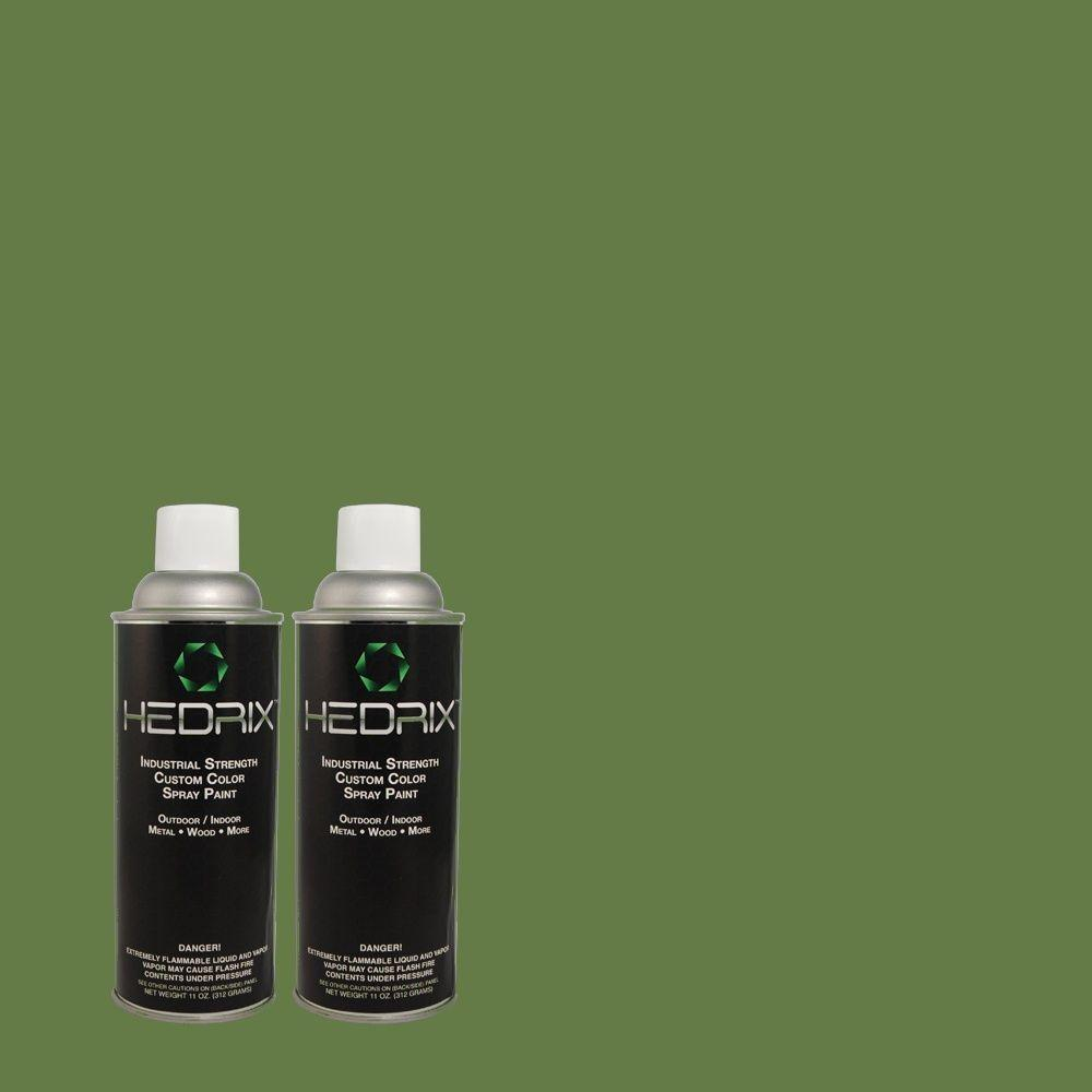 Hedrix 11 oz. Match of MQ4-49 Emerald Forest Semi-Gloss Custom Spray Paint (2-Pack)