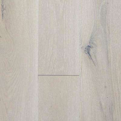Take Home Sample - Castlebury French Linen Brushed White Oak Engineered Hardwood Flooring - 5 in. x 7 in.