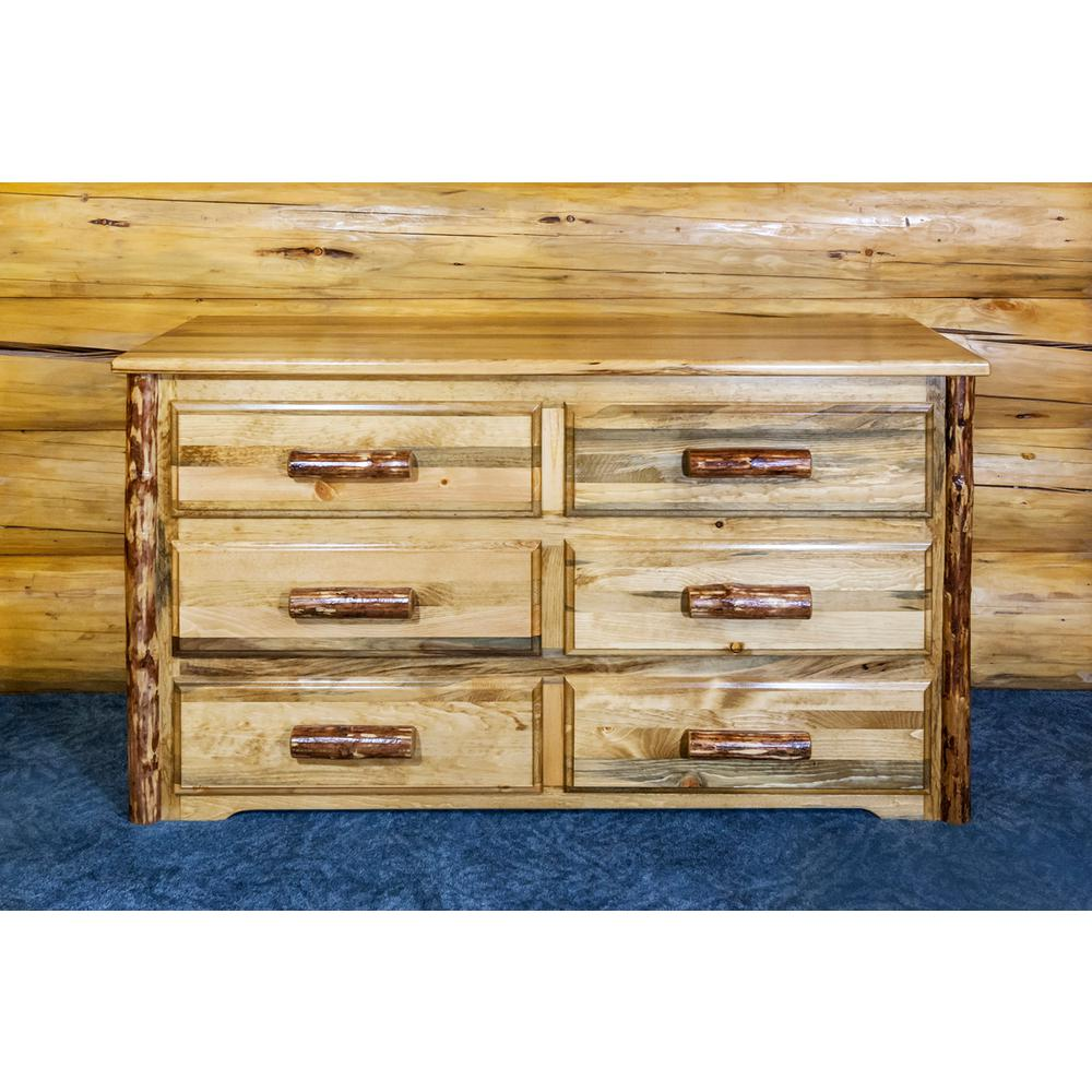Glacier Country 6-Drawer Stained and Lacquered Dresser
