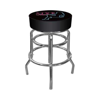 Shadow Babes D Series 31 in. Chrome Swivel Cushioned Bar Stool