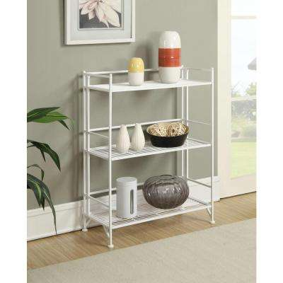 Designs2Go White 3-Tier Folding Metal Shelf