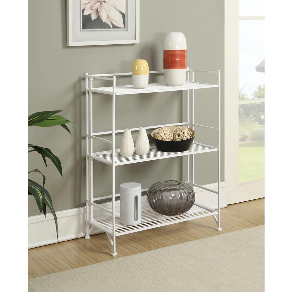 Designs2Go White 3-Tier Folding Metal Shelf