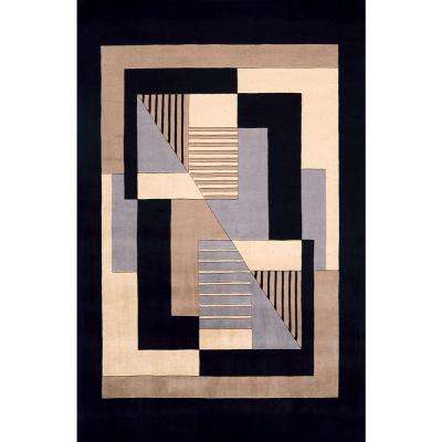 Contempo Black 10 ft. x 14 ft. Indoor Area Rug
