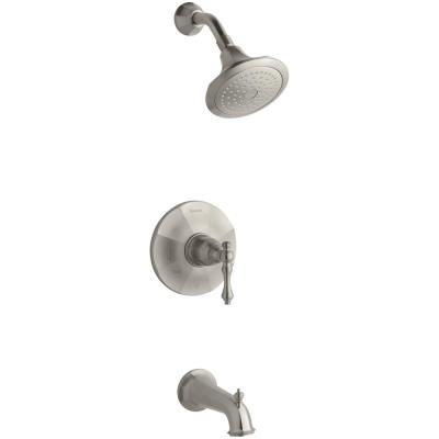 Kelston 1-Handle 1-Spray 2.0 GPM Tub and Shower Faucet in Vibrant Brushed Nickel (Valve Not Included)