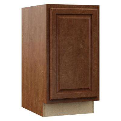 Hampton Assembled 18x34.5x24 in. Pull Out Trash Can Base Kitchen Cabinet in Cognac