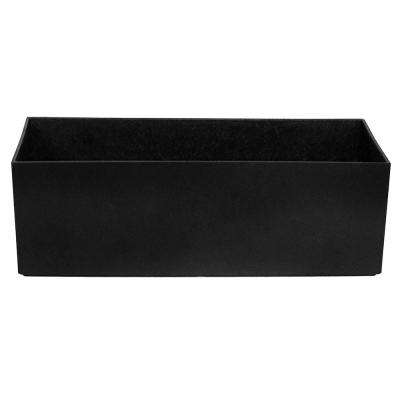 Tabletop Trough 12 in. x 4 in. Slate Rubber Self-Watering Planter